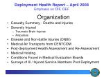 deployment health report april 2008 emphasis on oif oef