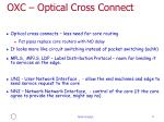 oxc optical cross connect