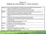 action 19 mobilier de communication yonne tourisme