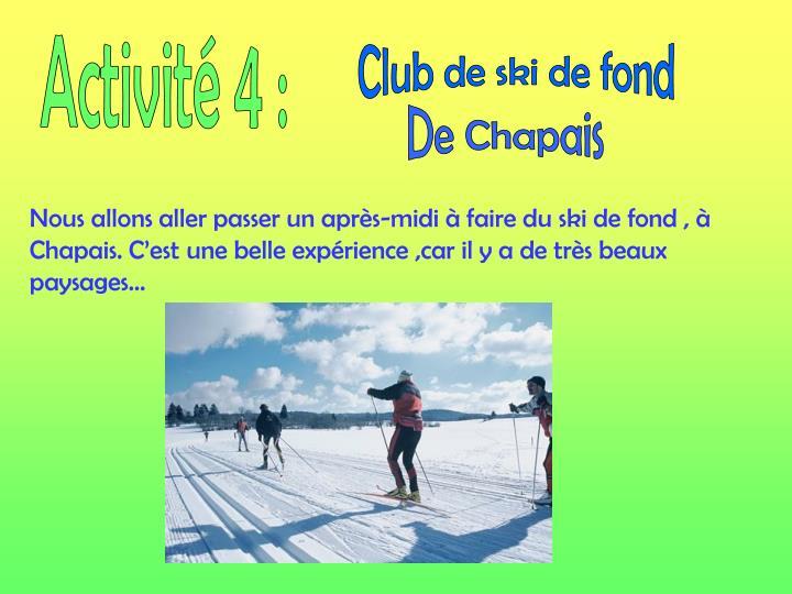 Activité 4 :