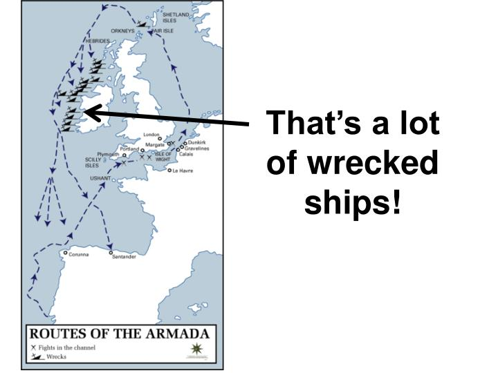 That's a lot of wrecked ships!