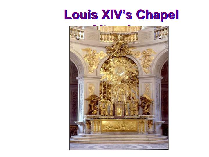 Louis XIV's Chapel Altarpiece