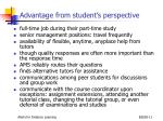 advantage from student s perspective