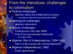 from the interstices challenges to colonialism