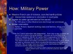 how military power