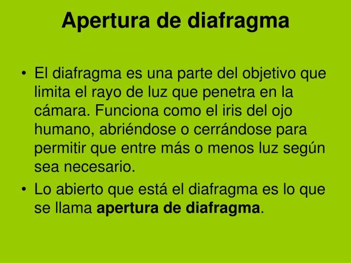 Apertura de diafragma