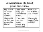 conversation cards small group discussions