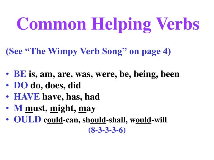 common helping verbs n.