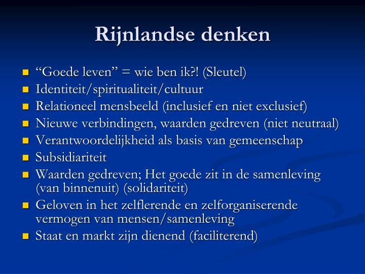 Rijnlandse denken