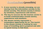 conclussions possible