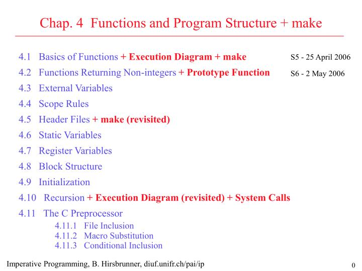 chap 4 functions and program structure make n.