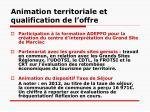 animation territoriale et qualification de l offre1