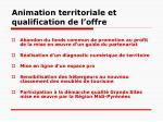 animation territoriale et qualification de l offre2