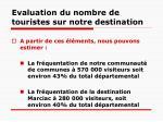 evaluation du nombre de touristes sur notre destination1