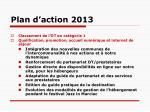 plan d action 2013