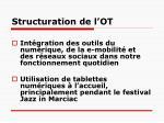 structuration de l ot1