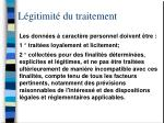 l gitimit du traitement