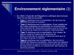 environnement r glementaire 2