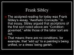 frank sibley