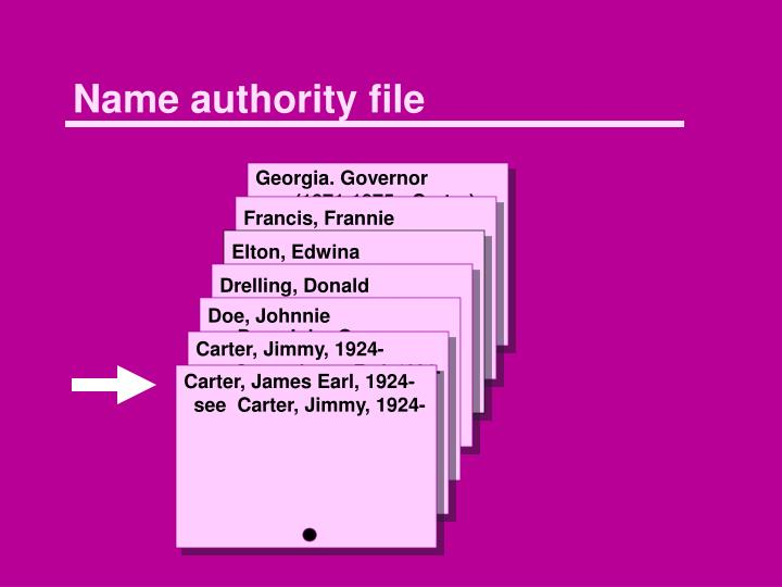 name authority file n.