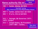 name authority file record1