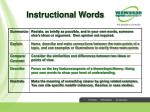 instructional words