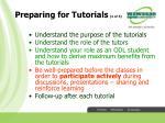 preparing for tutorials 1 of 3