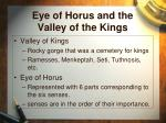 eye of horus and the valley of the kings