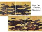 eight omi landscapes 19th century