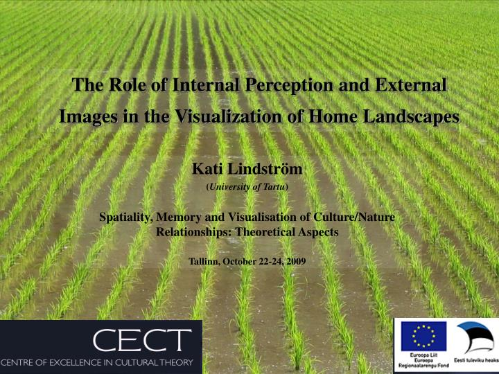 the role of internal perception and external images in the visualization of home landscapes n.