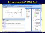 environnement de symbols 2000
