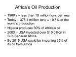 africa s oil production