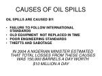 causes of oil spills