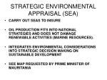 strategic environmental appraisal sea