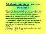 moderne literatuur 1914 1940 dada sme