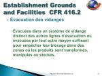 establishment grounds and facilities cfr 416 210