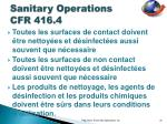 sanitary operations cfr 416 4