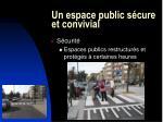 un espace public s cure et convivial21