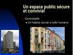 un espace public s cure et convivial27