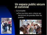 un espace public s cure et convivial31