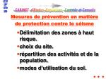 mesures de pr vention en mati re de protection contre le s isme