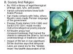 b society and religion