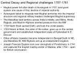 central decay and regional challenges 1707 1761