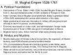 iii mughal empire 1526 1761