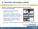 d simulation informatique calibr e