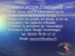 association itinerance