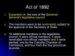 act of 18921