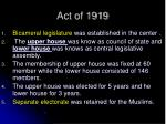 act of 19191