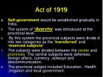 act of 19192
