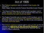 act of 19351